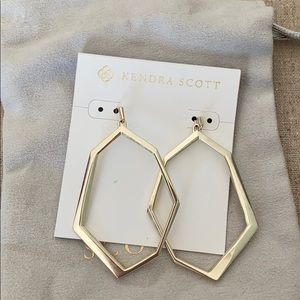 Kendra Scott Gold Earrings excellent condition